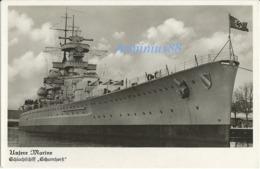 """Kriegsmarine - """"Unsere Marine"""" - Schlachtschiff """"Scharnhorst"""" - Echte Fotografie - Weltkrieg 1939-45"""