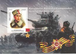 Rwanda 2016 Hero Soviet Union Eroi Russia Konstantin Karitsky Imperf. MNG - Seconda Guerra Mondiale