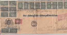 DR Brief Teilfrankatur Mif Minr.65x 256,257 Berlin 25.9.23 Gel. Nach Cleve Geprüft - Deutschland
