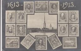 AK - Briefmarkensprache - Russisches Kaiserreich, 1613-1913 - Russland