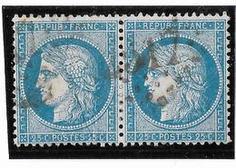 TIMBRES N° 60/1 ;  PAIRE 82/83 B2 ,  TB - 1871-1875 Cérès
