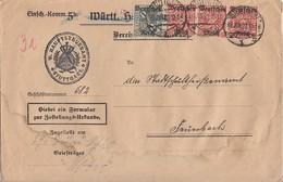 DR Brief Mif Minr.3x 58,64 Stuttgart 28.6.20 - Dienstpost