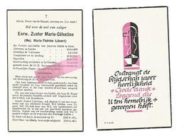 Z 312. E.Zuster MARIE-CELESTINE (M. LIBEERT) - Zusters Van Liefde GENT - °LAUWE 1879 / +ST-TRUIDEN 1960 - Devotion Images