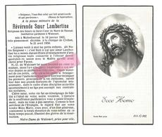 Z 313. Révérende Soeur LAMBERTINE -Institutrice Gardienne à WALCOURT - °MOLENBEERSEL 1905 / + CREHEN 1959 - Devotion Images