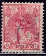 Netherlands, 1898-1924, Queen Wilhelmina, 5c, Sc#65, Used - Gebraucht