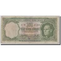 Billet, Turquie, 100 Lira, L.1930, 1930-06-11, KM:177a, B+ - Turquie