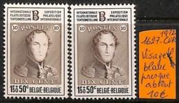 [821876]Belgique 1972 - N° 1627cu, Visage Blanc Presque Absent, Exposition, Rois - Abarten Und Kuriositäten