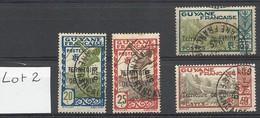 ININI : Lot 2 De 4 Timbres Oblitérés - Used Stamps