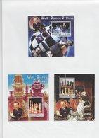 Liberia 2005; Full Set Of 3x S/s;chess Scacchi & Disney MNH - Liberia