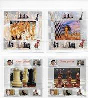 Liberia 2007; 4x S/s;chess Scacchi - Liberia
