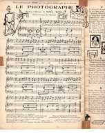 CAF CONC HUMOUR PARTITION LE PHOTOGRAPHE NOEL NOEL 1927 ILLUSTRÉ PAR L'AUTEUR DÉDIÉ À HENRY - Music & Instruments