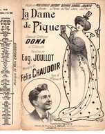 CAF CONC DONA PARTITION LA DAME DE PIQUE JOULLOT CHAUDOIR MALLEVILLE DUFORT BÉRARD DARGIL JOANYD POUSTHOMIS - Music & Instruments