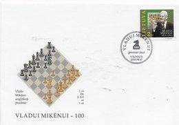 Latvia 2010; Chess Scacchi FDC - Liberia