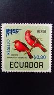 Equateur Ecuador 1967 Oiseau Bird Surchargé Overprint RESELLO Yvert PA 490 Neuf Sans Gomme No Gum - Ecuador