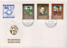 Liechtenstein Special Cover With Naposta And Full Set - Liechtenstein