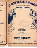 CAF CONC FILM RIEN QUE LA VÉRITÉ PARTITION IL FAUT SAISIR LE MOMENT SAINT GRANIER LEMONNIER BARNABY HORNEZ 1931 - Music & Instruments
