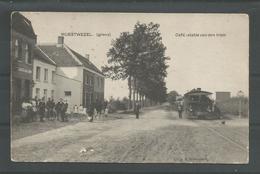 Originele Pk Wuestwezel (grens) Café : Statie Van Den Tram 1910 - Wuustwezel