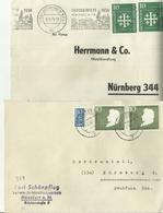 BDR  2 Alte Briefe Mit MeF - BRD