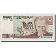 Billet, Turquie, 100,000 Lira, L.1970, 1970-01-14, KM:205, SPL - Turquie