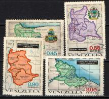 VENEZUELA - 1971 - MAPPE DEL VENEZUELA - USATI - Venezuela