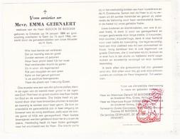 DP Emma Geirnaert ° Ertvelde Evergem 1884 † Gent 1966 X Isidoor De Bleecker / Wittoek Versmesse Scheir Demaret - Devotion Images