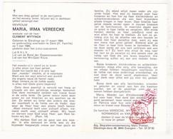 DP Maria Irma Vereecke ° Sleidinge Evergem 1894 † Gent 1980 X Clement Wytynck / Normandie Van Vooren - Devotion Images