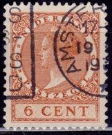 Netherlands, 1926-39, Wilhelmina III, 6c, Sc#173, Used - Oblitérés