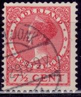 Netherlands, 1926-39, Wilhelmina III, 7 1/2c, Sc#175, Used - 1891-1948 (Wilhelmine)