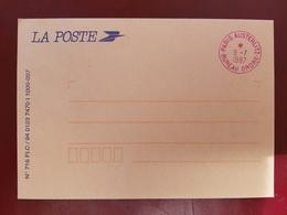 Rare Oblitération Paris Austerlitz Bureau Ordre En Rouge  Sur Enveloppe De Service 8 Juillet 1997 - Marcofilie (Brieven)