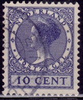 Netherlands, 1926-39, Wilhelmina III, 10c, Sc#178, Used - 1891-1948 (Wilhelmine)