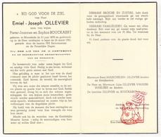 DP Emiel J. Ollevier / Bouckaert ° Moorslede 1878 † Ieper 1961 / Masschelein VanderMarliere - Devotion Images