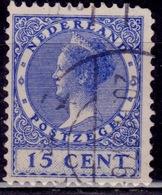 Netherlands, 1926-39, Wilhelmina III, 15c, Sc#181, Used - 1891-1948 (Wilhelmine)