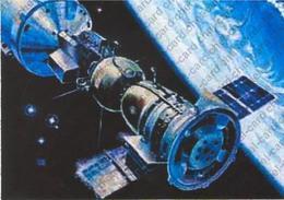 "[2017, Space, Soyuz-Apollo, Astronauts] Postcard ""[Experimental Flight Of The Ships ""Soyuz"" And ""Apollo""]"""". - Rusia"
