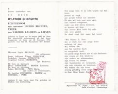 DP Wilfried Cherchye ° Ieper 1947 † Gent 1976 X Ingrid Bruneel / Braem Pype - Devotion Images