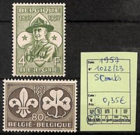 D - [822567]Belgique 1957 - N° 1022/23,  Organisations, Scoutisme - Scoutisme