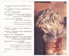 DP Notaris - Norbert D'Huvettere ° Zonnebeke 1885 † Ieper 1967 / Hachez Chevalier Tyberghein Delaunois Lommee - Devotion Images
