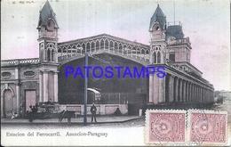 101881 PARAGUAY ASUNCION STATION TRAIN ESTACION DE TREN CIRCULATED TO FRANCE POSTAL POSTCARD - Paraguay