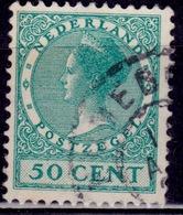 Netherlands, 1926-39, Wilhelmina III, 50c, Sc#192, Used - Oblitérés