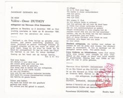 DP Bakker - Valère O. Duthoy ° Beselare Zonnebeke 1900 † Ieper 1984 X Alice Dequeecker / Maes DeJaegher Noppe Sinnaeve - Devotion Images