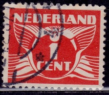 Netherlands, 1926-39, Gull, 1c, Sc#165, Used - 1891-1948 (Wilhelmine)