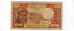 FRENCH AFARS ET ISSAS : 1000 FRANCS 1975 ( ND ) RARE - Gibuti