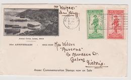 New Zealand 1936 ANZAC Souvenir Cover 21st Anniversary, - FDC