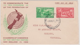 New Zealand 1936 Commerce  FDC - FDC
