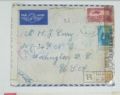 O) 1945 MIDDLE EAST - WESTERN ASIA, CENSORSHIP-EXAMINED, PRESIDENT TAJ EDDIN HASSANI SCT 287 15p - PROCALMATION  OF UNIT - Stamps