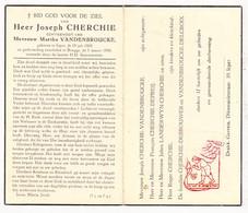 DP Joseph Cherchie ° Ieper 1900 † Brugge 1956 X Martha VandenBroucke / Depreij Landerwyn Debrouwer Delcroix - Devotion Images