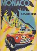 MONACO  Course Automobile En Juin 1952 - (CPM Reproduction D'affiche). - Monaco