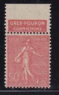 PUBLICITE: SEMEUSE LIGNEE 50C ROUGE GREY-POUPON-cornichons HAUT ACCP 331** - Advertising