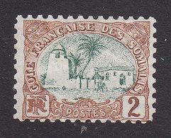French Somali Coast, Scott #35, Mint No Gum, Tadjoura Mosque, Issued 1902 - French Somali Coast (1894-1967)