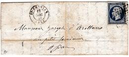 Lettre Saint Chinian 1855 Hérault Saint Pons Batté Avec Correspondance Napoléon III 20 Centimes - 1853-1860 Napoleon III