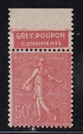 PUBLICITE: SEMEUSE LIGNEE 50C ROUGE GREY-POUPON-condiments HAUT ACCP 335** - Advertising